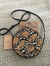 New Listing Patricia Nash Nwt Scarfati Pouch Crossbody Leather Python Haircalf Msrp $149