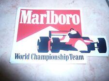 malboro world championship team  originale adesivo anni 80