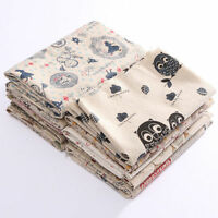 Vintage Retro European British Style Cotton Linen Fabric Patchwork Cloth 50*75cm