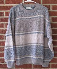Vintage 80s 90s Sweater Saturdays Size Large L Brown