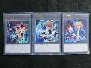 YU-GI-OH CARDS LDK2 TOKEN SET OF 3 ENT01 ENT02 ENT03 ULTRA RARE MINT