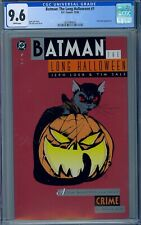 CGC 9.6 BATMAN THE LONG HALLOWEEN #1 WHITE PAGES 1ST APPEARANCE ALBERTO FALCONE