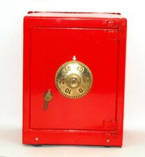 Vintage Mint Russian Red Safe Bank, Wheels, Working Combo, Original Instructions