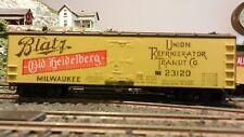Train Miniature Ho Blatz Beer Wood Reefer, K-D Trucks & Couplers, Excellent