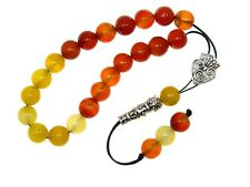 0452 10mm Mixed Agate Gemstone Loose String Greek Komboloi Prayer Worry Beads
