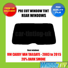 VW CADDY LIEFERWAGEN HECKKLAPPE 03-15 20% DUNKEL HINTEN