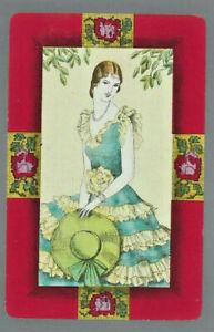 Geniune Swap Vintage Playing Card  Lady