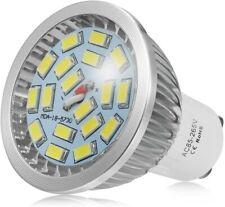 8 x GU10 7W LED BULB WARM WHITE DOWN DAY LIGHT 3200K 140° BEAM ANGLE SPOT LIGHTS