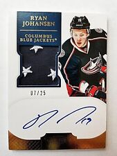 2011-12 Ryan Johansen Dominion Rookie RC Autograph Auto Patch 7/25