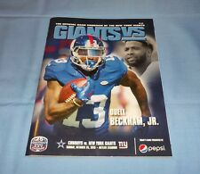 NY Giants vs. Dallas Cowboys 2015 Game Program Odell Beckham Jr.