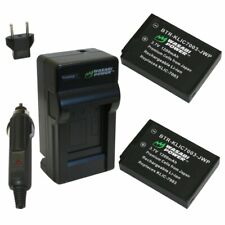 Wasabi Power Battery (2-Pack) and Charger for Kodak KLIC-7003