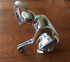 Christofle Monkey Silver-plate Figurine - Paperweight - France - Signed