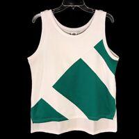Adidas Tank Top Athletic Equipment ADV Womens Mesh Sz Large Green White
