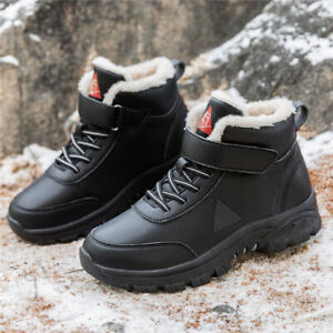 Mens Waterproof Hiking Winter Boots Outdoor Snow Work Ankle Combat Shoes Size UK