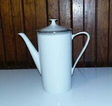 Vintage Bavaria Coffee Pot White China w/Gold Trim Germany Chocolate Tea