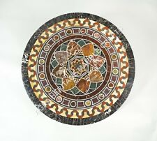 "30"" Decorative Marble Round Coffee Table Top Inlay Mosaic Furniture Decor H5142A"