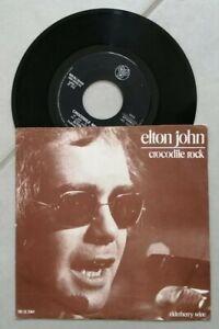 """ELTON JOHN - CROCODILE ROCK - ELDERBERRY WINE - 45 GIRI 7"""" DJM 1972"""
