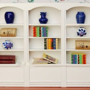 Miniature Furnitures Bookcase Bookshelf Cabinet Display For 1:12 Dollhouse US