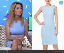 Calvin Klein 177$ Lined Scuba Crepe Sleeveless Princess Seam Sheath Dress Size 8