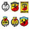 Abarth adesivi 70 anniversario vintage sticker cropped auto moto print pvc 6 pz.
