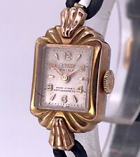 NOS Cauny Cal. 2345 Working Vintage Hand Manual Lady Watch Rope 15 mm 3WC