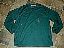 New Men's Long Sleeve Mountain Bear Outfitters Top Forest Green Xl