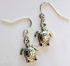 silver tone tortoise earrings - jewellery