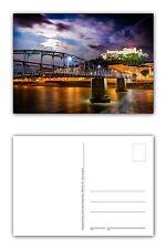 12 Stück Postkarten Blick auf Salzburg und auf die Brücke Mozartsteg bei Nacht