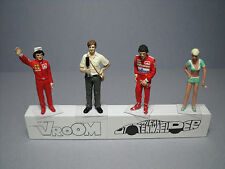 4  FIGURINES 1/43  SET  264  LE  DUEL  PROST  SENNA   VROOM   UNPAINTED  FIGURES