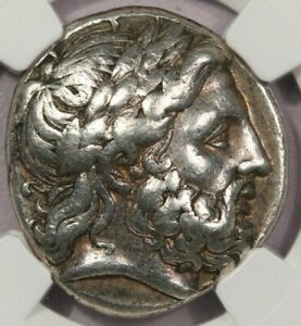359-336 BC Kingdom of Macedon Philip II AR Tetradrachm 14.35g NGC VF B-5