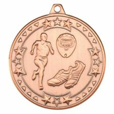 RUNNING 'TRI STAR' MEDAL - BRONZE 2in PACK OF 100