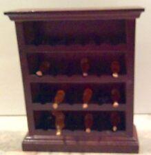 Dollhouse Miniature Wood Wine Rack - Winery