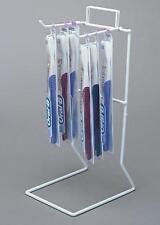 Counter Long Product Peg Display Rack - 1 Teir 2 Peg Hook (White)