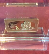 Father's Day 1975 Clear Lucite Franklin Mint 1000 Grains Sterling Silver 2+ oz.