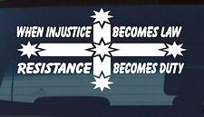 eureka injustice car Sticker Decal 4x4 Aussie