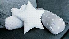 Fatto a mano stella Nuvola Guanciale cilindrico Set di 3 cuscini Baby Nursery bambini camera da letto alla moda