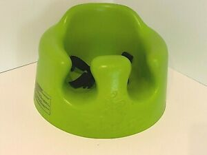 Bumbo Baby Foam Floor Seat Neon Lime Green with Safety Belt Restraints Straps