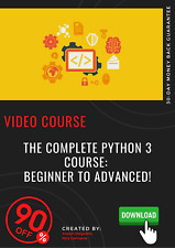 The Complete Python 3 Course: Beginner to Advanced! video training tutorial