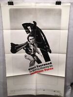 "Original 1973 ""Magnum Force"" 1 Sheet Movie Poster 27""x 41"" Clint Eastwood"