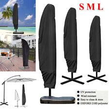 Heavy Duty Parasol Banana Umbrella Cover Cantilever Outdoor Patio Shield - S M L