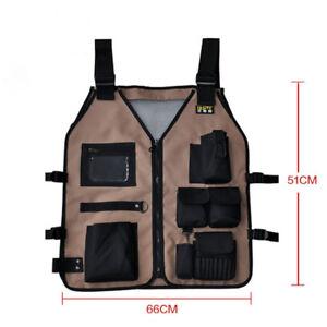 New Electrician Carpenter Framer Plumber Craftman Construction Tool Vest Bag 015