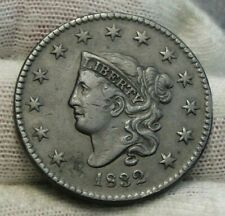 1832 Penny Coronet Large Cent - Nice Coin, Free Shipping (9201)
