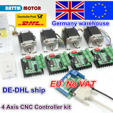 【EU Ship】 4 axis Nema23 stepper motor Dual shaft 270 Oz-in TB6560 driver CNC kit