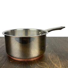 Chef's Mark Stainless Copper Base 2.5 Qt Saucepan Saute Pot Casserole No Lid