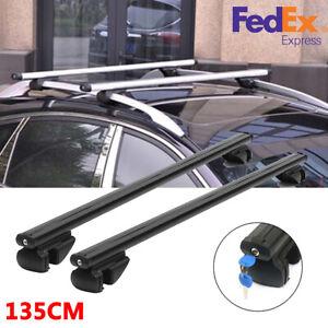 2 X Black Car SUV Luggage Rack Cross Bars W/ Anti-Theft Lock Universal 135cm USA