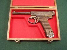 PISTOL GUN PRESENTATION CASE WOOD BOX NAMBU JAPANESE JAPAN JAP TYPE 14 PISTOL