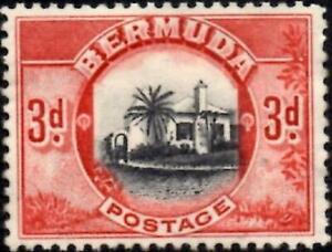 Bermuda 1936 KGV 3d Black & Scarlet   SG.103 Mint (No Gum)