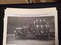 74-9 ephemera reprint picture crumlin abercarn fire brigade c f edwards 1931