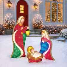 Christmas Nativity Scene With 245 LED lights 4ft 8 Inches 1.42m Indoor Outdoor