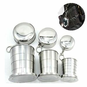 Camping Folding Cups Stainless Steel Cup Collapsible Mugs Telescopic Travel Mug